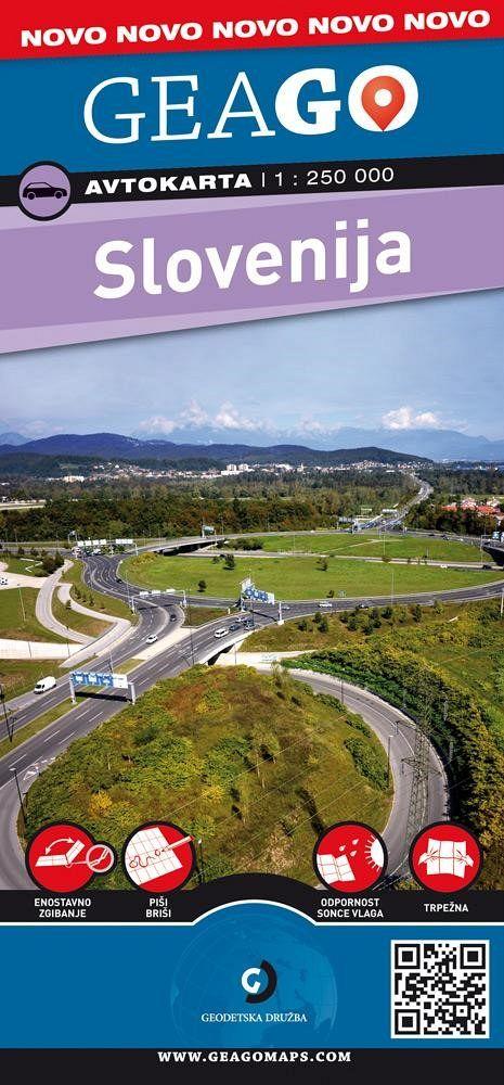 Slovenija 1:250.000, avtokarta