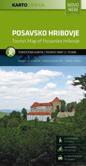 Posavsko hribovje 1:75.000, turistična karta