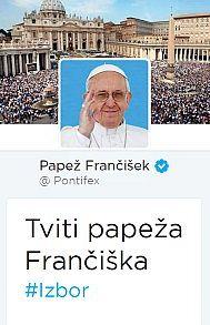 Tviti Papeža Frančiška: #izbor