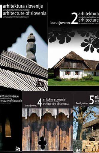 Arhitektura Slovenije. Komplet 5 knjig