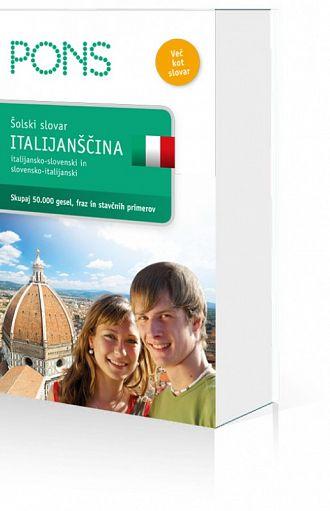 Pons. Šolski slovar: italijanščina (publikacija je večjezična)
