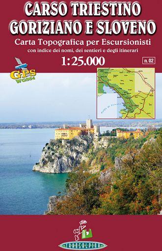 Carso triestino, goriziano e sloveno 1:25.000, carta topografica per escursionisti