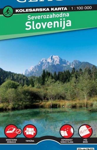 Severozahodna Slovenija 1:100.000, kolesarska karta