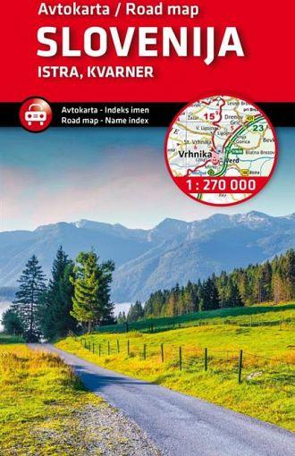 Slovenija, Istra, Kvarner 1:270.000, avtokarta