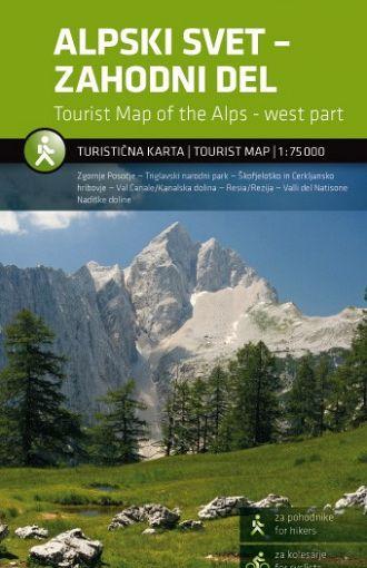Alpski svet – zahodni del 1:75.000, turistična karta