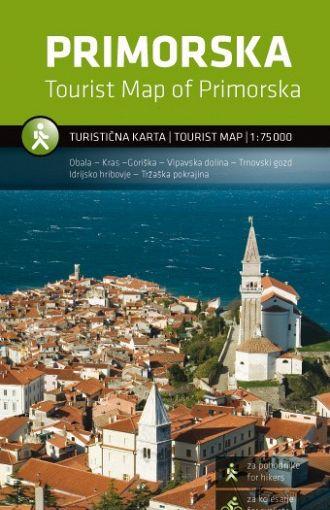 Primorska 1:75.000, turistična karta