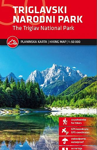Triglavski narodni park 1:50.000, planinska karta