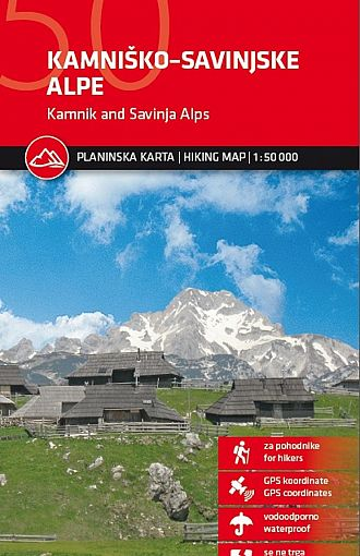 Kamniško-Savinjske Alpe 1:50.000, planinska karta
