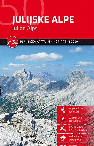 Julijske Alpe 1:50.000, planinska karta