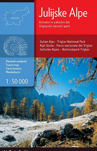 Julijske Alpe vzhodni in zahodni del, Triglavski narodni park 1:50.000, planinska karta