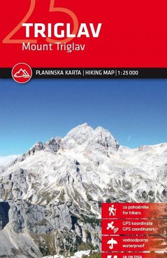 Triglav 1:25.000, planinska karta