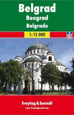 Belgrado 1:15.000, pianta della città