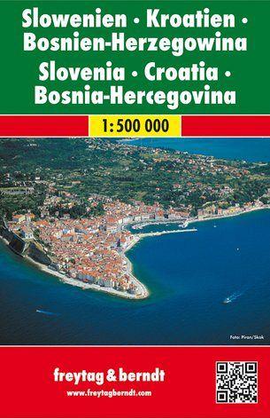 Slovenia, Croazia, Bosnia-Erzegovina 1:500 000, carta stradale