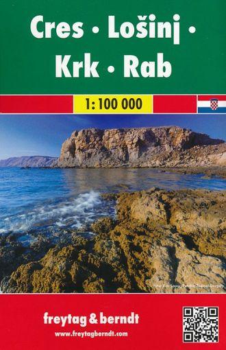 Cres, Lošinj, Krk, Rab 1:100.000, avto+turistična karta