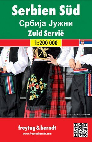 Serbia del Sud 1:200.000, carta stradale