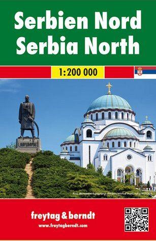 Serbia del Nord 1:200.000, carta stradale