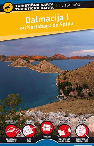 Dalmacija I 1:150.000, turistična karta