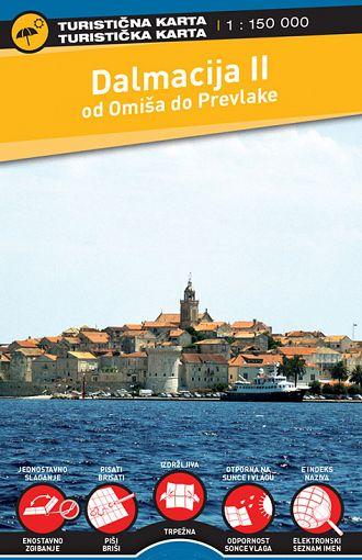Dalmacija II 1:150.000, turistična karta