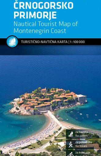 Črnogorsko primorje 1:100.000, turistično-navtična karta