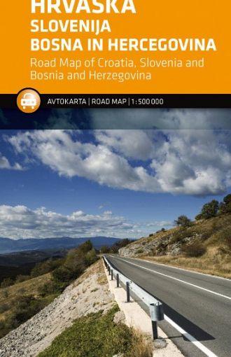 Hrvaška, Slovenija, Bosna in Hercegovina 1:500.000, avtokarta