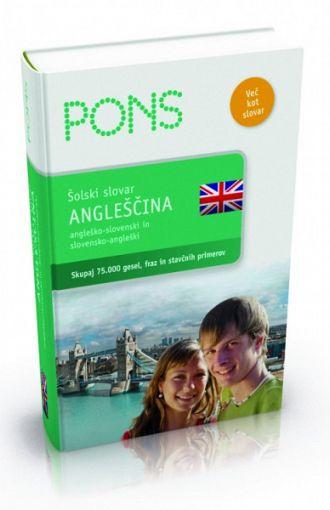 Pons. Šolski slovar: angleščina (publikacija je večjezična)