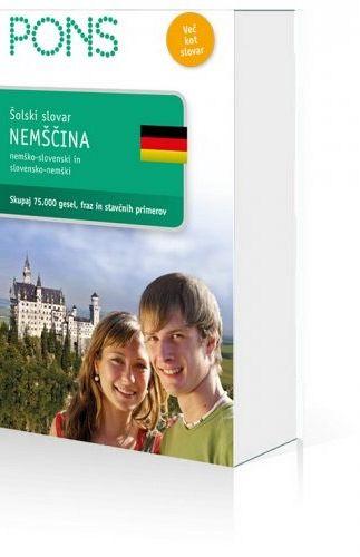 Pons. Šolski slovar: nemščina (publikacija je večjezična)