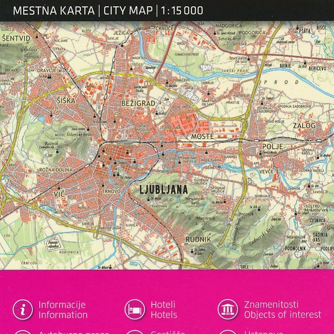 Ljubljana 1:15.000, mestna karta
