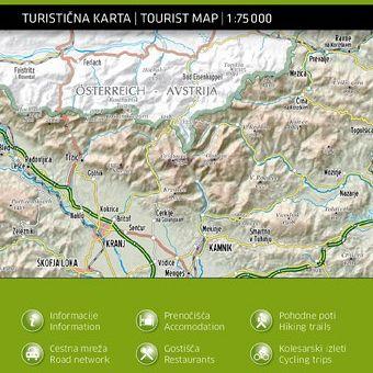 Alpski svet – vzhodni del 1:75.000, turistična karta